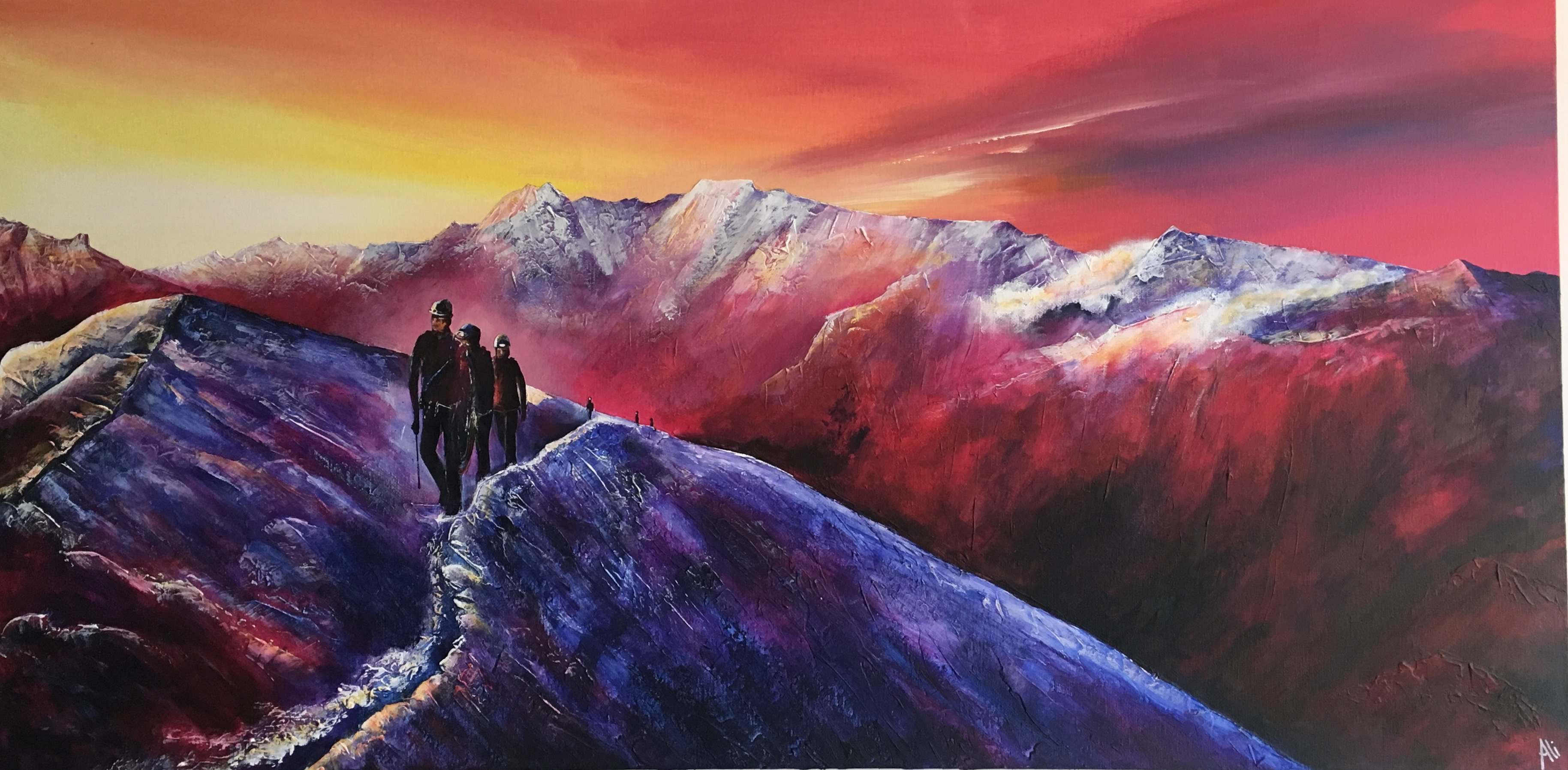There is a permanent exhibition of my paintings of the Great Outdoors and climbers at