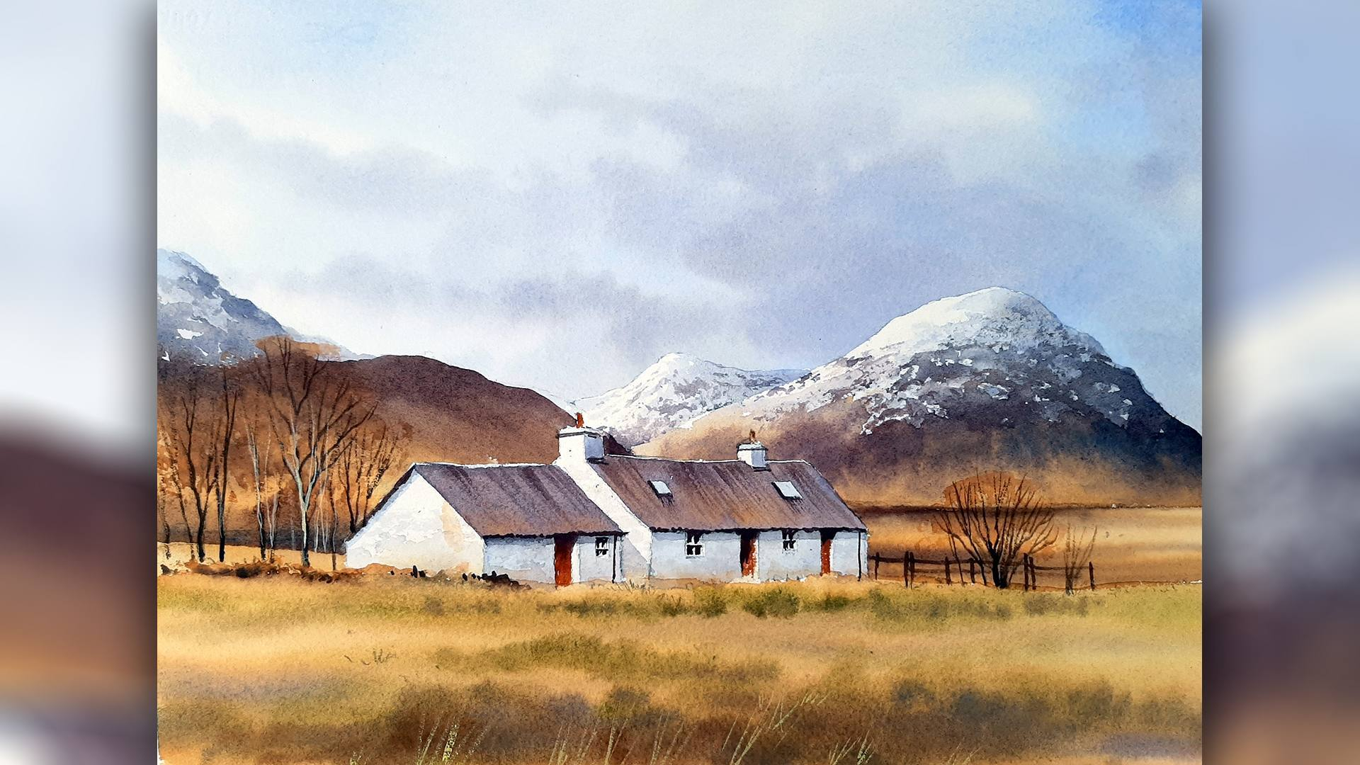 SAA Live – Geoff Kersey Workshop – Black Rock Cottage in Watercolour