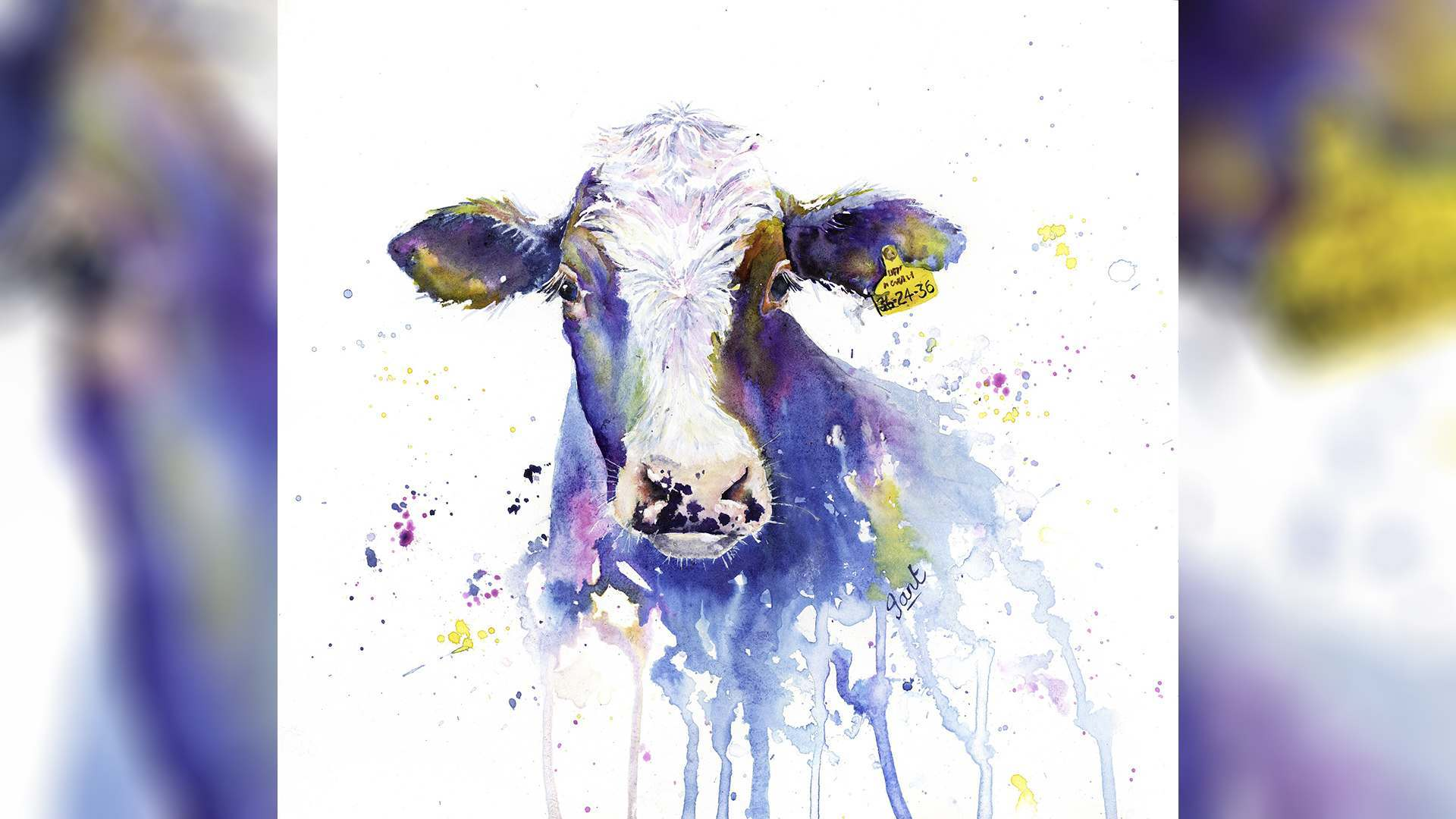 SAA Live – Jantien Powell Workshop – Crazy Cow in Acrylic Ink