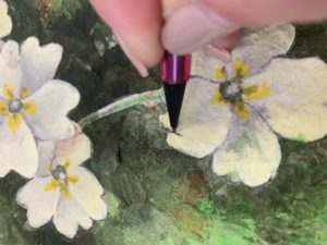 Use a pencil to redefine or add extra detail