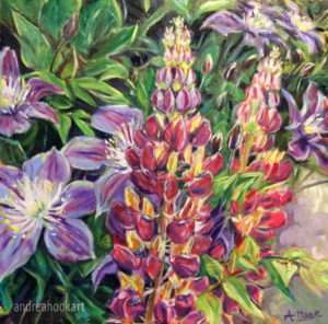Lupins & Clematis