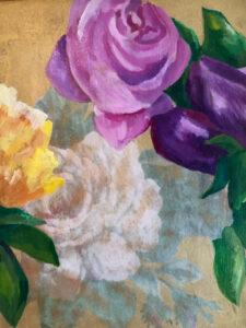 Four Vintage Roses