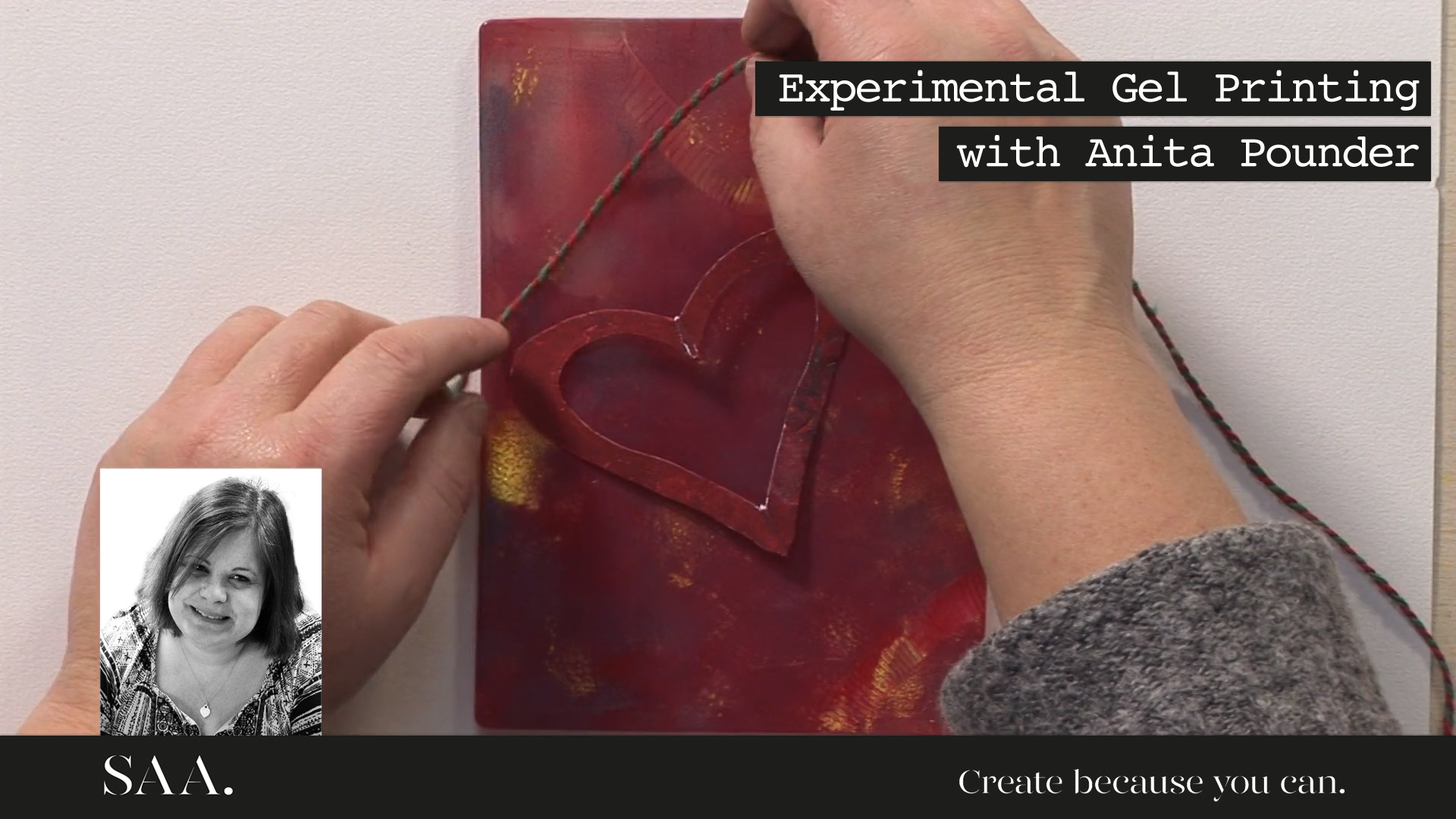 Live with Anita – Unique Gel printed gift in Printing Ink