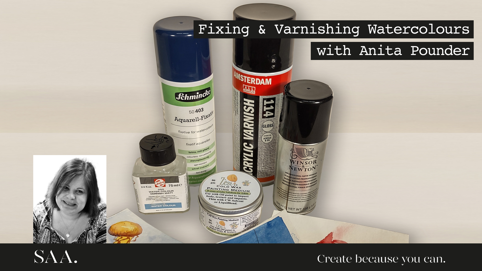 Live with Anita – Fixing and Varnishing Watercolours
